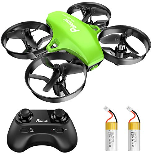 Potensic Upgraded A20 Mini Drone Easy to Fly Drone for Kids and Beginners, RC Helicopter Quadcopter with Auto Hovering, Headless Mode, Remote Control and Extra Batteries - Green