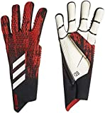 adidas Predator 20 Pro Goalie Gloves Soccer (Black/Red, 10)