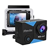 Piwoka Action Camera 1080P 12MP Waterproof Underwater 98ft Sports Camera 2' LCD Screen Wide Angle...