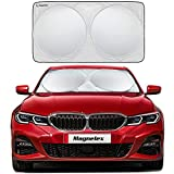 Magnelex Windshield Sunshade with Bonus Steering Wheel Sun Shade. 210T Reflective Polyester Blocks...