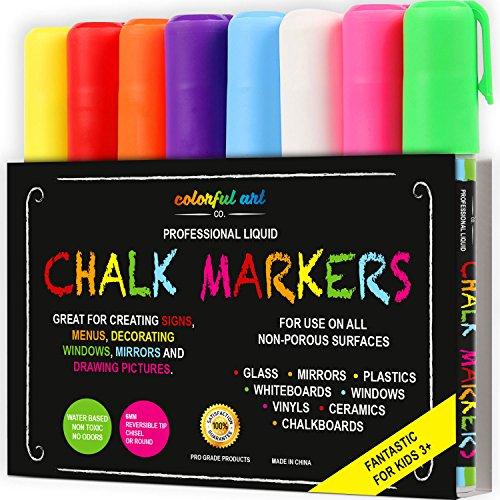 FANTASTIC ChalkTastic - Confezione da 8 pennarelli ed evidenziatori in gesso, per lavagne di bistro,...