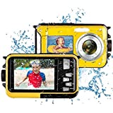 Appareil Photo Etanche Caméra sous Marine Full HD 2.7K 48MP Appareil Photo Numérique Etanche pour...