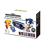 85 classic SEGA and SEGA Mega drive games built-in (using the original game files for 100% authenticity) SD card slot - download more games online (SD card not included) Crisp 2.8 LCD display Built-in rechargeable battery Charged by USB cable (USB ca...