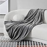 Bedsure Fleece Blanket Throw Size Grey Lightweight Super Soft Cozy Luxury Bed Blanket Microfiber