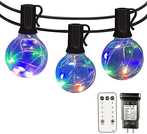 LED String Lights Outdoor - IELECMG 35 FT G40 Patio String Lights...