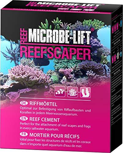 MICROBE-LIFT Reefscaper – Riffmörtel, Korallenkleber, perfekt zur Befestigung von Riffaufbauten, Korallen und Ablegern in jedem Meerwasseraquarium, 500ml / 500g