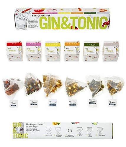 Te Tonic - 6 Gin Tonic Infusions Aroma Beuteln Botanicals Geschenk - Aromen Zum Verfeinern Ihres...