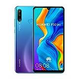 Huawei P30 Lite (128GB, 4GB RAM) 6.15' Display, AI Triple Camera, Dual SIM Global GSM Factory Unlocked MAR-LX3A - International Version, No Warranty (Peacock Blue)