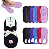 2 Pairs Womens Fuzzy Boat Socks Slippers Non-Slip Cozy Plush Foot Footies 9-11