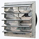 iLIVING ILG8SF20V Wall Mounted Exhaust Fan, 20' - Variable, Silver