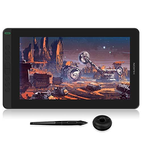 Huion Kamvas 13 Graphics Drawing Monitor 2-in-1 Pen Display & Drawing Tablet Screen Full-Laminated Tilt Function Battery-Free Stylus, 8192 Pen Pressure and 8 Shortcut Keys, Purple