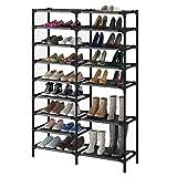 9Tiers Shoe Rack,Large Shoe Storage Organizer for 30-40Pairs, Waterproof Fabric Shoe Storage Cabinet...