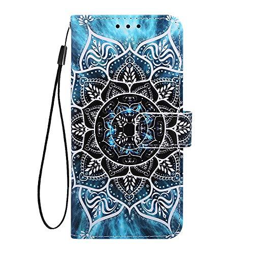 Phcases Für Samsung Galaxy A10s Hülle Case Malen Leder Tasche Handyhülle Flip Cover Skin Standfunktion Schale Stoßdämpfend Bumper Magnetverschluss Brieftasche Schutzhülle-Blume.