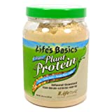 LifeTime Life's Basic Organic Plant Protein, Unflavored, Green, 19.3 Ounce