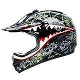 Youth Kids Motocross Offroad Street Helmet, Orthrus Youth Helmet Dirt Bike Motocross ATV Helmet(M)