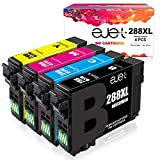 ejet Remanufactured Ink Cartridge Replacement for Epson 288XL 288 XL T288XL to use with Expression Home XP-440 XP-330 XP-340 XP-430 XP-434 XP-446 Printer (1 Black, 1 Cyan, 1 Magenta, 1 Yellow) 4 Pack