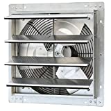 iLiving - 16' Wall Mounted Exhaust Fan - Automatic Shutter - Variable Speed - Vent Fan For Home Attic, Shed, or Garage Ventilation, 1200 CFM, 1800 SQF Coverage Area