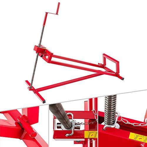 Arebos Lève-tondeuse Tracteur-tondeuse Dispositif de levage Cric   400 kg   Angle d'inclinaison à environ 45°   Rouge   Stable et solide