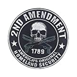 2nd Amendment Original Homeland Security Biker MC/RC Officer Title Rank Vest Patches President VP Rocker Rider Motorcycle Biker Patches Name Jacket Patches Appliqued Iron on/Sew on Embroidered Patches
