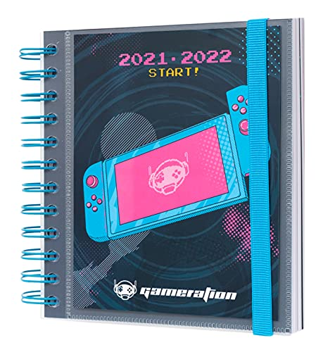 Grupo Erik Agenda Escolar 2021 2022 Gameration - Agenda Escolar 2021-2022 / Agenda 2022 dia por página - Agenda 11 meses desde Agosto de 2021 a Junio de 2022, ADPM2117