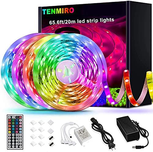 Tenmiro 65.6ft Led Strip Lights, Ultra Long RGB 5050 Color...