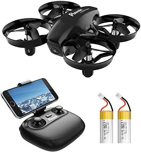 Potensic Mini Drone con Telecamera Telecomando Quadricottero WiFi Batteria Rimovibile con Funzione di Sospensione...