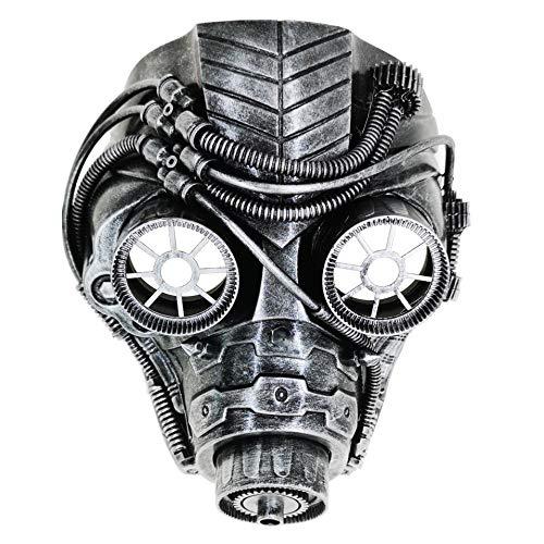 Ubauta Steam Punk Phantom Of The Opera Vintage Mechanical Men Venetian Mask For Masquerade/Party/Ball Prom/Halloween/Mardi Gras(Silver Punk Gas Mask)