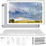 Tablet 10.0 Pulgadas YESTEL Android 10.0 Tablets con 4GB RAM + 64GB ROM - /WiFi   Bluetooth   GPS, 8000mAH, con Ratón   Teclado y Cubierta-Plata