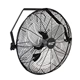 Comfort Zone CZHVW18 High-Velocity Industrial 3-Speed 18-inch Wall-Mount Fan with Aluminum Blades and Adjustable Tilt