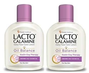 Lacto Calamine Daily Face Care Lotion, Oil Balance for Oily Skin, 120ml (Pack of 2)