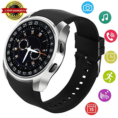 Agkey Smart Watch Bluetooth Smartwatch for Android Phones Touch Screen with Step Counter Pedometer Camera Text Handsfree Call Compatible with iPhone Samsung LG for Kids Women Men Girls Boys Gifts