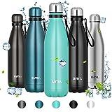 Amazon Brand - Umi Borraccia Termica, 750ml Bottiglia Acqua in Acciaio Inox, Senza BPA, 24 Ore Freddo & 12 Caldo, Borracce per Scuola, Sport, All'aperto, Palestra, Yoga (Verde)
