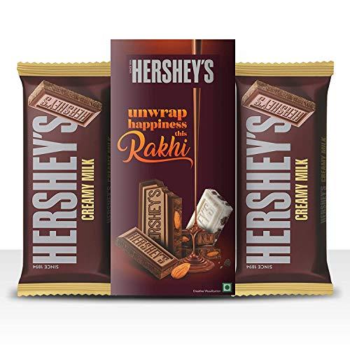 HERSHEY'S Bar - Rakhi Gift (Milk Bar 100 gm Pack of 2 + Rakhi )