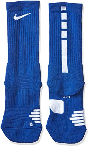 Nike Elite Basketball Crew Socks (Game Royal/White, Small)