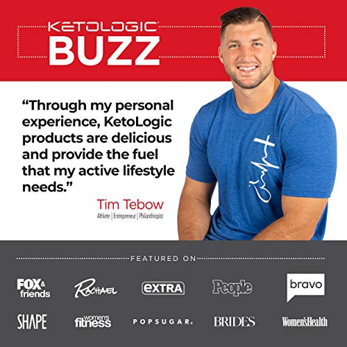 KetoLogic BHB Exogenous Ketones Powder with Caffeine (30 Servings) - Keto Pre-Workout, Boosts Ketosis, Energy & Focus - Support Keto Diet with Beta-Hydroxybutyrate Keto BHB Salts - Blueberry Acai 6