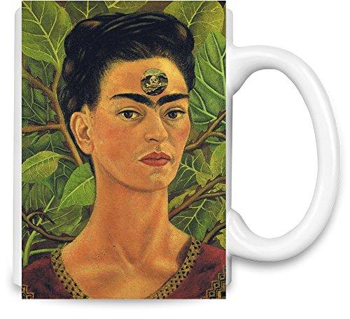Thinking About Death Frida Kahlo Painting Taza para café
