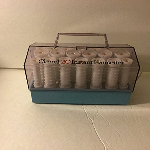 Clairol C-20 Instant Hairsetter Hot Rollers Curlers Set Pageant C20