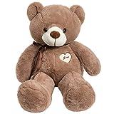 iBonny Teddy Bear Stuffed Animals Super Soft and Sweet Love Plush Bear Toy 32' Chocolate