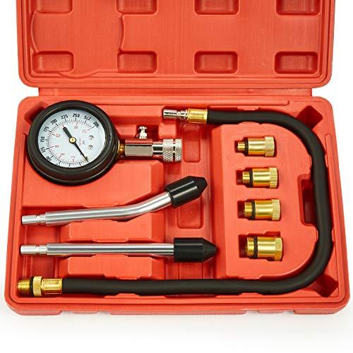 Engine Compression Tester, 8PCS Engine Cylinder...
