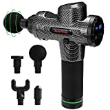Massage Gun 20 Speed Level Deep Tissue Percussion for Deep Relaxation, Cordless Handheld Electric Body Massage Device for Neck, Back, Muscle & 5 Heads Included
