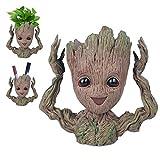 BabyGroot Maceta/soporte para bolgrafos, figura de accin innovadora de la pelcula clsica I AM Groot, para decoracin del hogar, plantas de acuario, regalos creativos para adultos y nios (Happay)