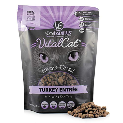 Vital Essentials Vital Cat Freeze-Dried Grain-Free Turkey Mini Nibs Cat Food, 12 oz.