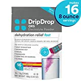 DripDrop ORS – Patented Electrolyte Powder for Dehydration Relief Fast - For Workout, Hangover, Illness, Sweating & Travel Recovery - Watermelon, Berry, Lemon Variety Pack - 16 x 8oz Servings