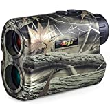 BIJIA Hunting Rangefinder - 650Yards Multi-Function Laser Archery Rangefinder for Bow Hunting,Shooting, Golf,Camping with Slope Correction,Flag-locking with Vibration,Speed,Angle,Scan,Distance Measure