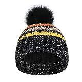 JSDing Bonnet Beanie d'hiver Femme Chapeau Chaud avec Doublure en Polaire...