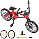 BMX Finger Bike Series 12, Cool Boy Toy Creative Game Toy Set , Replica Bike with Real Metal Frame, Graphics, and Moveable Parts for Flick Tricks, Flares, Grinds, and Finger Bike Games (red)