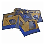 fortunershop Family Cabin Tent 14 Person Base Camp 4 Rooms Hiking Camping Shelter Outdoor