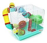 BPS 1176 Cage pour hamster avec mangeoire, abreuvoir, roue et...