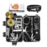 Exqline kit de Survie d'urgence 12 en 1 Survie Materiel Sac de Survie Complet Trousses Portable...