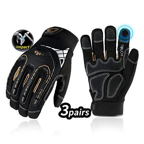 Vgo Glove Guanti, 3 paia, guanti da lavoro ad alto carico meccanico, guanti di protezione dalle...